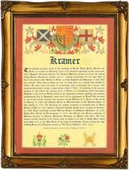 Kramer surname